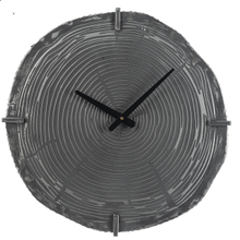Embossed Wood Grain Wall Clock
