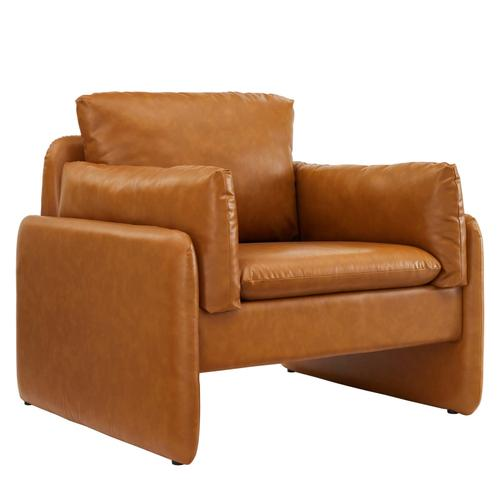 Modway - Indicate Vegan Leather Armchair in Tan
