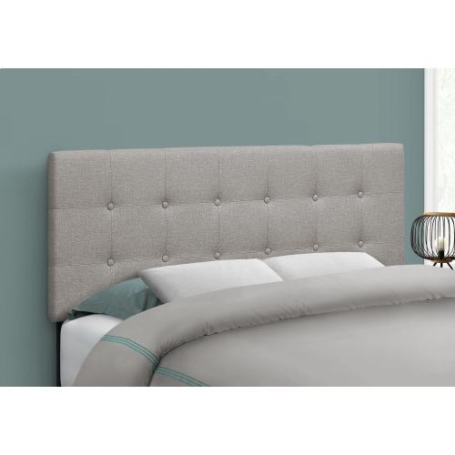 BED - FULL SIZE / GREY LINEN HEADBOARD ONLY