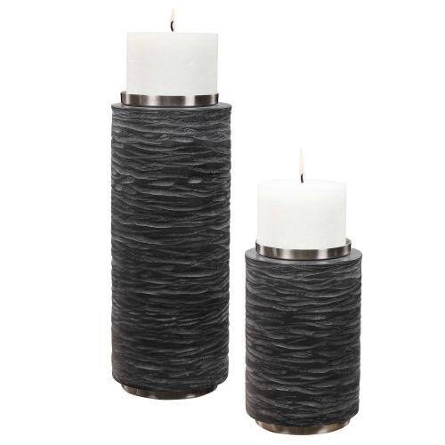 Strathmore Candleholders, S/2