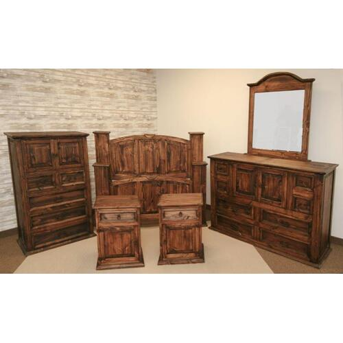 L.M.T. Rustic and Western Imports - Medio Nightstand (Left)
