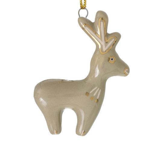 """0.5""""x 2.75"""" Brown E+E Critter Ornament (Stag Option)"""
