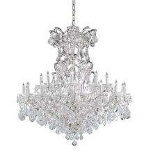 Maria Theresa 25 Light Spectra Crystal Chrome Chandelier