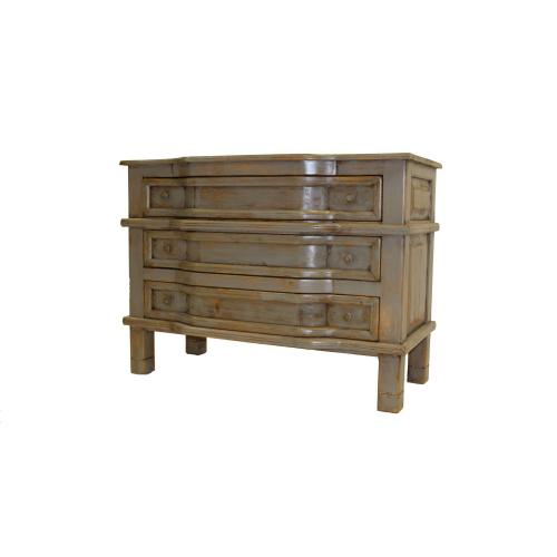 Distressed Gray 3 Drawer Cabinet
