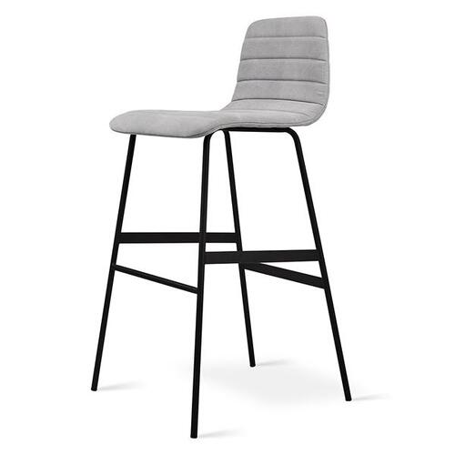 Lecture Bar Stool Upholstered Vintage Alloy