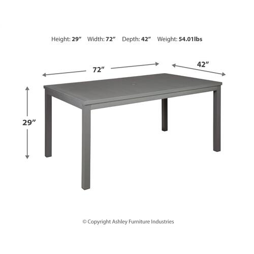 Okada Dining Table With Umbrella Option
