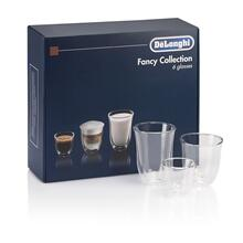 See Details - Fancy Collection (6) Glass Gift Set - 2 Espresso, 2 Cappuccino, 2 Latte Double Wall Thermal Glasses DLSC302