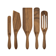 Mad Hungry Original 5-Piece Walnut Wood Spurtle Set