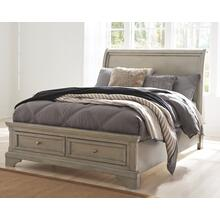 Lettner Full Sleigh Bed Light Gray