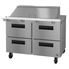 SR48A-18MD4, Refrigerator, Two Section Mega Top Prep Table, Stainless Drawers