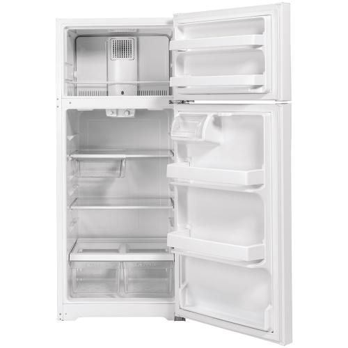 GE Energy Star® 16.6 Cu. Ft. Top-Freezer Refrigerator White - GTE17GTNRWW
