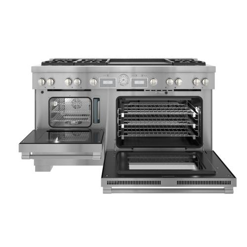 Dual Fuel Professional Range 60'' Pro Grand® Commercial Depth PRD606WESG