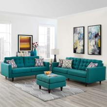 Empress Sofa and Loveseat Set of 2 in Teal