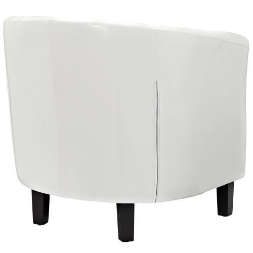 Modway - Prospect Upholstered Vinyl Armchair in White