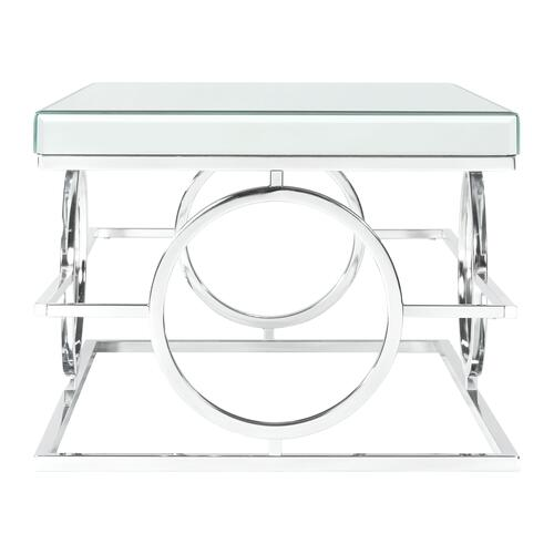 Elements - Pearl Rectangle Mirrored Coffee Table