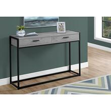 "ACCENT TABLE - 48""L / GREY / BLACK METAL HALL CONSOLE"