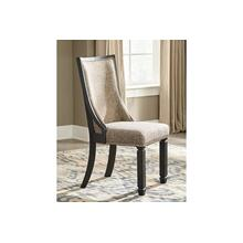 View Product - Tyler Creek Dining UPH Side Chair Black/Gray