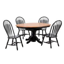 DLU-TBX4266-4130-AB5PC  5 Piece Pedestal Dining Set  Comfort Back Chairs