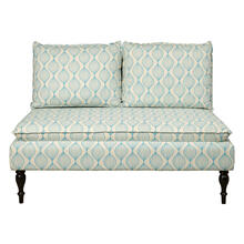 Uph 2 Pillow Back Bench - Pattern Blue