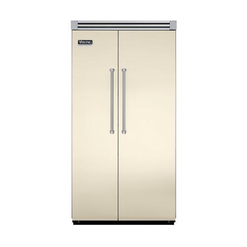 "Viking - Biscuit 42"" Side-by-Side Refrigerator/Freezer - VISB (Integrated Installation)"