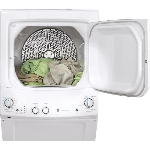 """GE 24"""" Unitized Spacemaker Washer and Electric Dryer White - GUD24ESMMWW"""