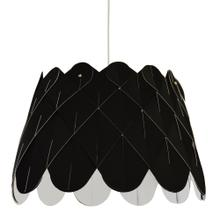 1lt Amirah Pendant Jtone Black, Polished Chrome