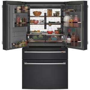 Cafe AppliancesCaf(eback) ENERGY STAR(R) 27.8 Cu. Ft. Smart 4-Door French-Door Refrigerator