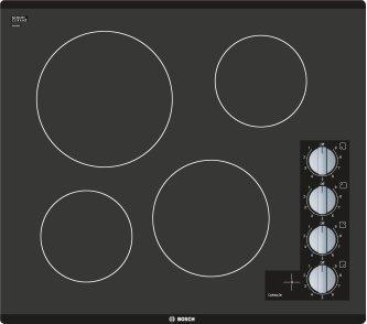500 Series Electric Cooktop 24'' Black, surface mount without frame NEM5466UC