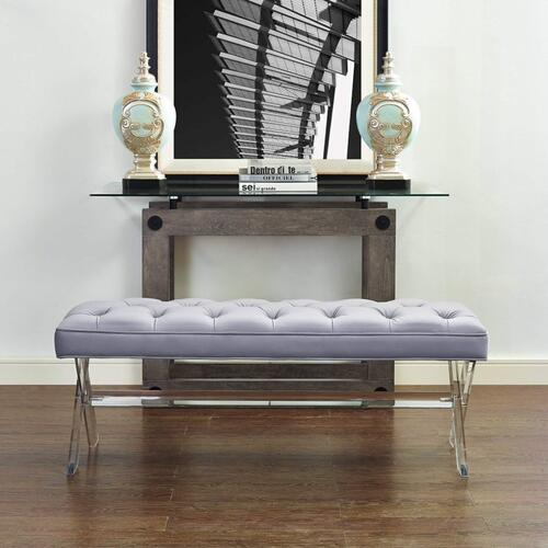 Tov Furniture - Claira Grey Lucite Bench