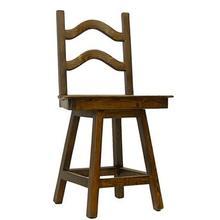"24"" barstool Laguna swivel barstool with wood seat"