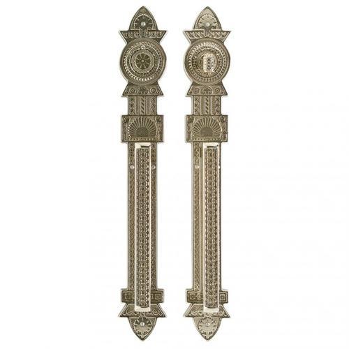 """Rocky Mountain Hardware - Briggs Push/Pull Set - 3 9/16"""" x 23 1/4"""" White Bronze Medium"""