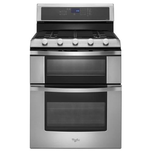 Whirlpool - 6.0 Total cu. ft. Double Oven Gas Range with Convection Cooking