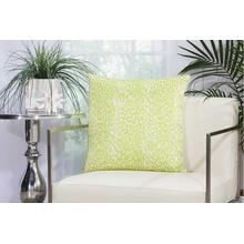 "Outdoor Pillows As524 Green 20"" X 20"" Throw Pillow"