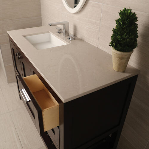 Countertop for vanity STL-F-36R & STL-W-36R, with a cut-out for Bathroom Sink 5452UN.