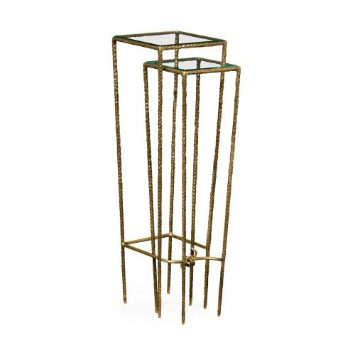 Brass Hammered Nesting Tables