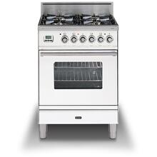 "24"" Professional Plus Series Freestanding Single Oven Gas Range with 4 Sealed Burners in True White"