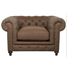 Cigar Club Armchair Brown Linen