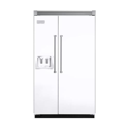 """Viking - White 48"""" Quiet Cool™ Side-by-Side with dispenser - VISB Tru-Flush™ (48"""" wide)"""