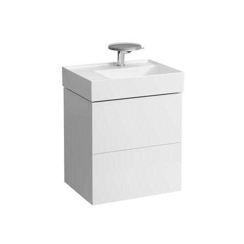 Grey Blue Vanity Unit with two drawers for washbasin shelf left 810335 (incl. organiser)