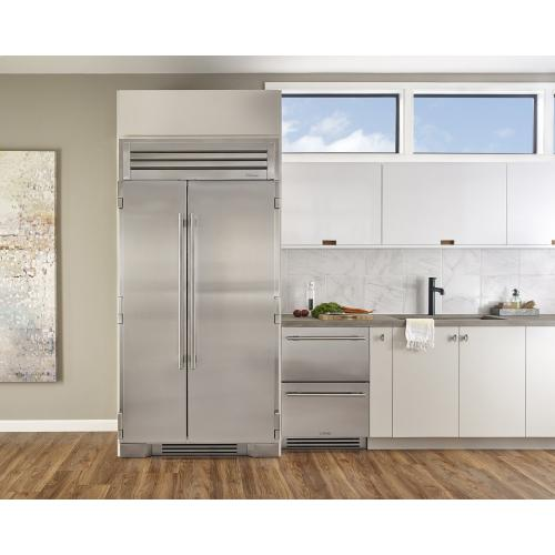 42 Inch Stainless Glass Door Side-by-Side