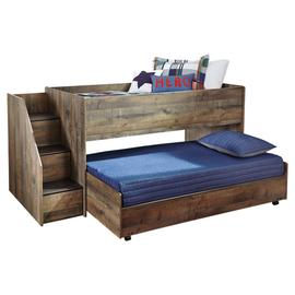 See Details - Trinell Twin Loft Bed With Pull-out Caster Bed