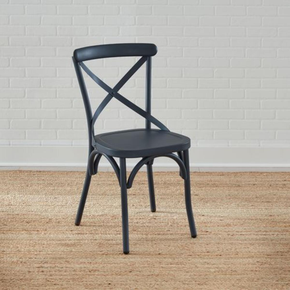 X Back Side Chair- Navy