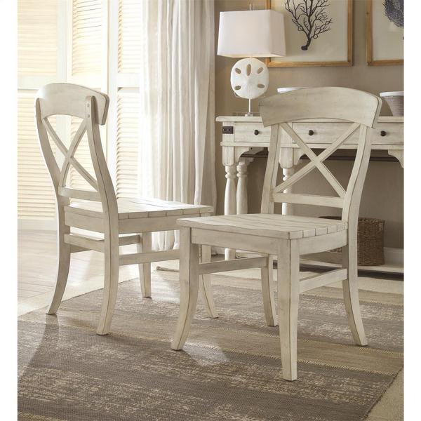 See Details - Regan - X-back Side Chair - Farmhouse White Finish