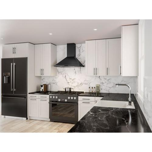 """30"""" Ombra Wall Hood Black Stainless ACT"""