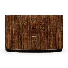 See Details - Art Deco High Lustre Demilune Sideboard with Brass