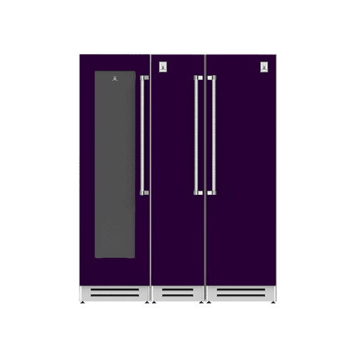 "Hestan - 66"" Wine Cellar (L), Column Freezer and Refrigerator ® Ensemble Refrigeration Suite - Lush"