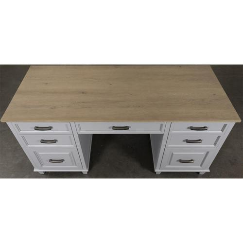 Osborne - Executive Desk - Timeless Oak/gray Skies Finish