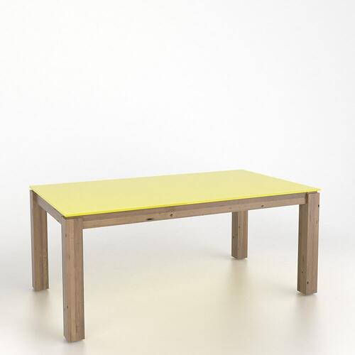 Canadel - Rectangular glass table with legs