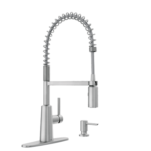 Product Image - Nori Spot resist stainless one-handle high arc pulldown kitchen faucet