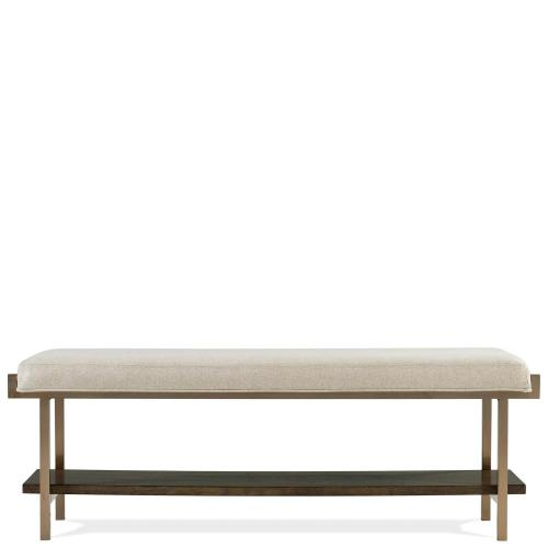 Monterey - Upholstered Bed Bench - Mink Finish